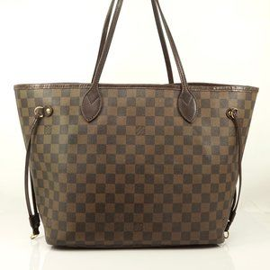 Auth Louis Vuitton Neverfull Mm Tote #5951L61